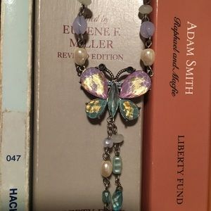 Jewelry - (2/$10) Lilac & Turquoise butterfly necklace 🦋